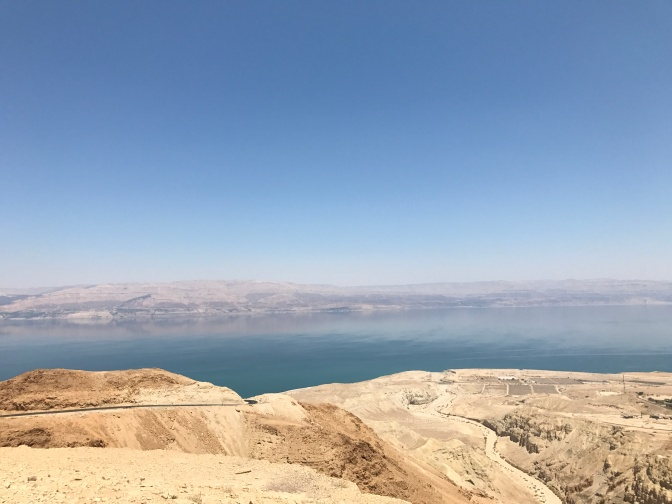 The Dead Sea as seen from Masada.